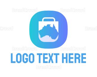 Mobile Phone - Australia App logo design