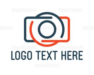 Electronics Boutique - Abstract Camera Outline logo design