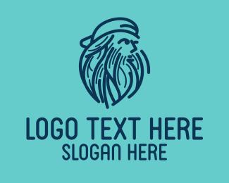Skater - Bearded Skater logo design