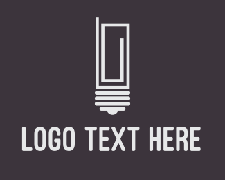 Office Supplies - Idea Paper Clip logo design