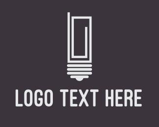 Idea - Idea Paper Clip logo design
