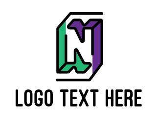 Company - Outline Letter N logo design