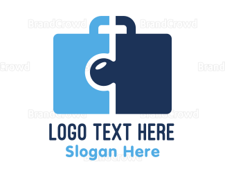 Hire - Puzzle Briefcase logo design