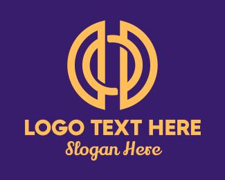Wealthy - Golden Elegant Round Circle logo design
