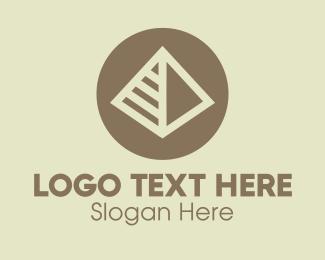 Tourist - Pyramid Landmark logo design