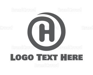 Advertising - Circle H Stroke logo design