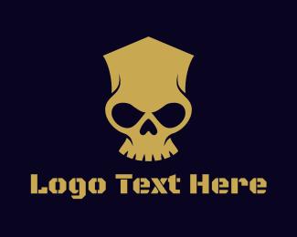 Frankenstein - Geometric Skull Head logo design