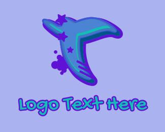 Hiphop Label - Graffiti Star Letter T logo design