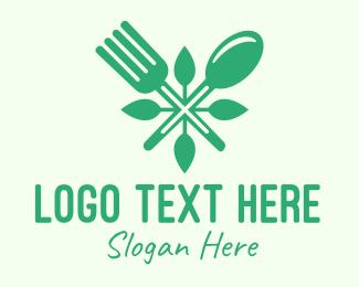 Vegan - Salad Vegan Greens Food logo design