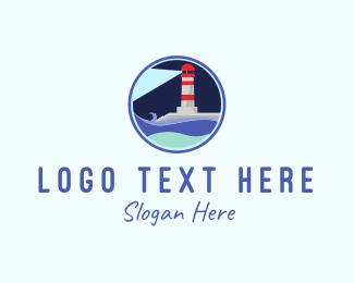 Travel Agency - Lighthouse Circle logo design