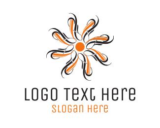 Decor - Orange Flower logo design