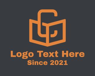 Literacy - Orange Book Letter C logo design