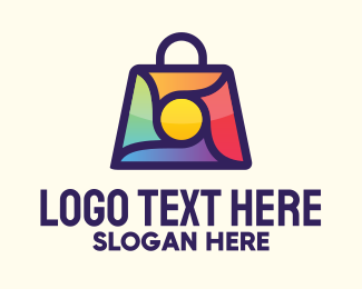 Item - Multicolor Shopping Bag logo design