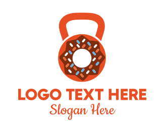 Exercise - Donut Kettlebell logo design