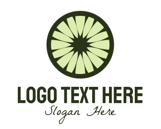 Lemon - Green FLower logo design