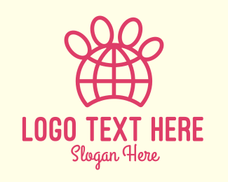 Paw Print - Global Animal Pet Organization logo design