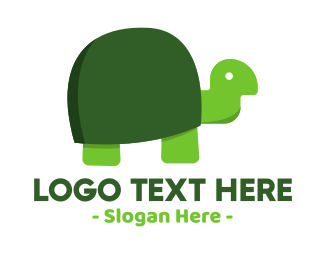 Tortoise - Green Turtle logo design