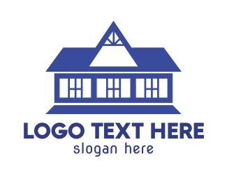 Homestead - Old Blue House logo design