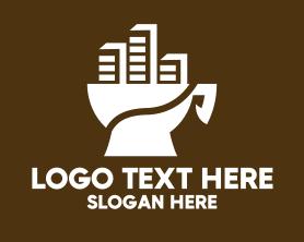 Town - Town Coffee Cup logo design
