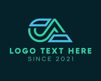 Ac - C & A Monogram logo design