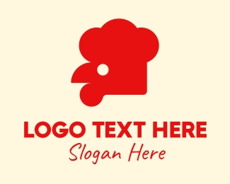 Bbq Chicken - Red Chicken Restaurant logo design