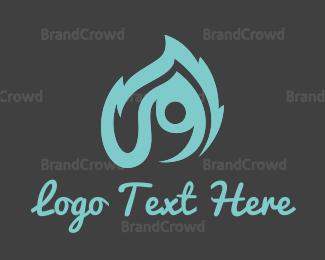Burn - Flame Man logo design