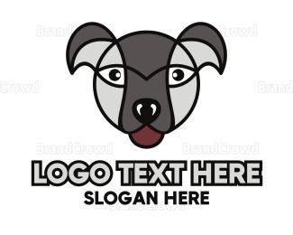 Pet Care - Grey Dog Outline logo design