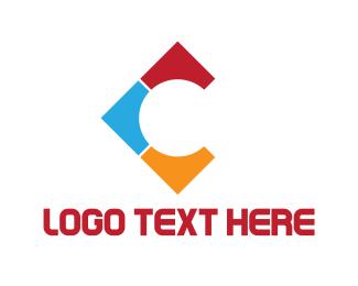 Floor - Colorful Letter C logo design