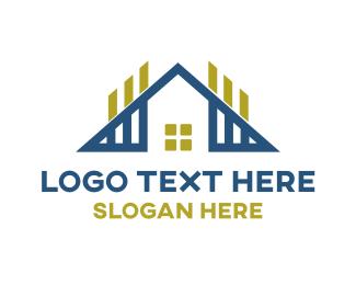 Housing - Triangle House Outline logo design