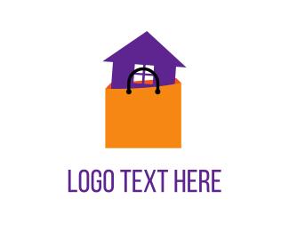 Estate - Shopping House logo design