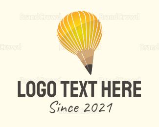 Learning Center - Pencil Balloon logo design