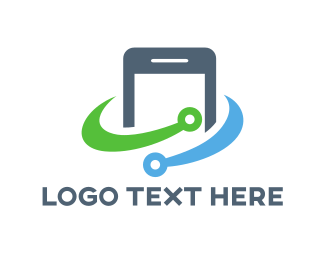 Gadget - Smartphone Circuit logo design
