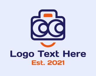 Photograph - Happy Camera Photography logo design