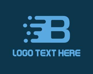 Pixel - Fast Letter B logo design