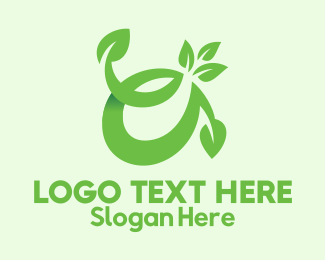 Pure - Herbal Plant Letter A  logo design
