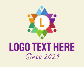 Text - Colorful Charity Letter logo design