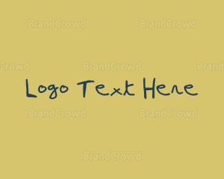 Diy -  Blue Pen Handwritten Font logo design