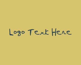 Type - Blue Pen Handwritten Font logo design