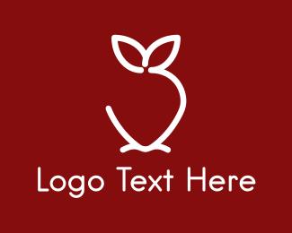 Berry - Minimalist Strawberry  logo design