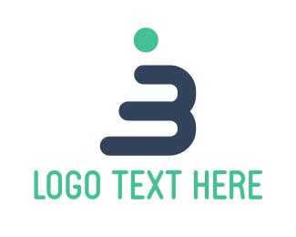 Human Letter B Logo