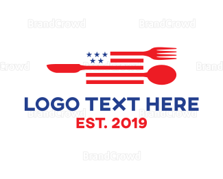 American Flag - American Diner logo design