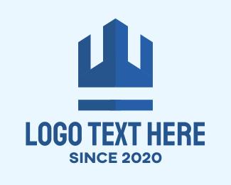 Watchtower - Blue Turret Crown Realty logo design