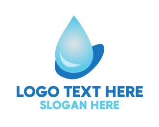 Wash - Water Drop logo design
