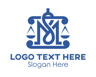 Court House - Legal MS Monogram logo design