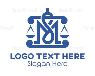 Lawyer - Legal MS Monogram logo design