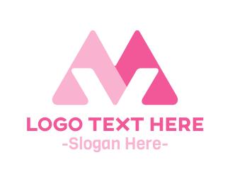 Letter V - Triangular Letter V logo design