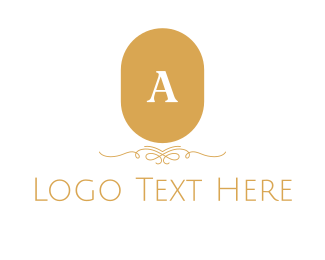 """Golden Classic Lettermark"" by BrandCrowd"