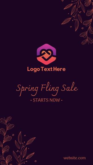 Spring Sale Ornamental Facebook story