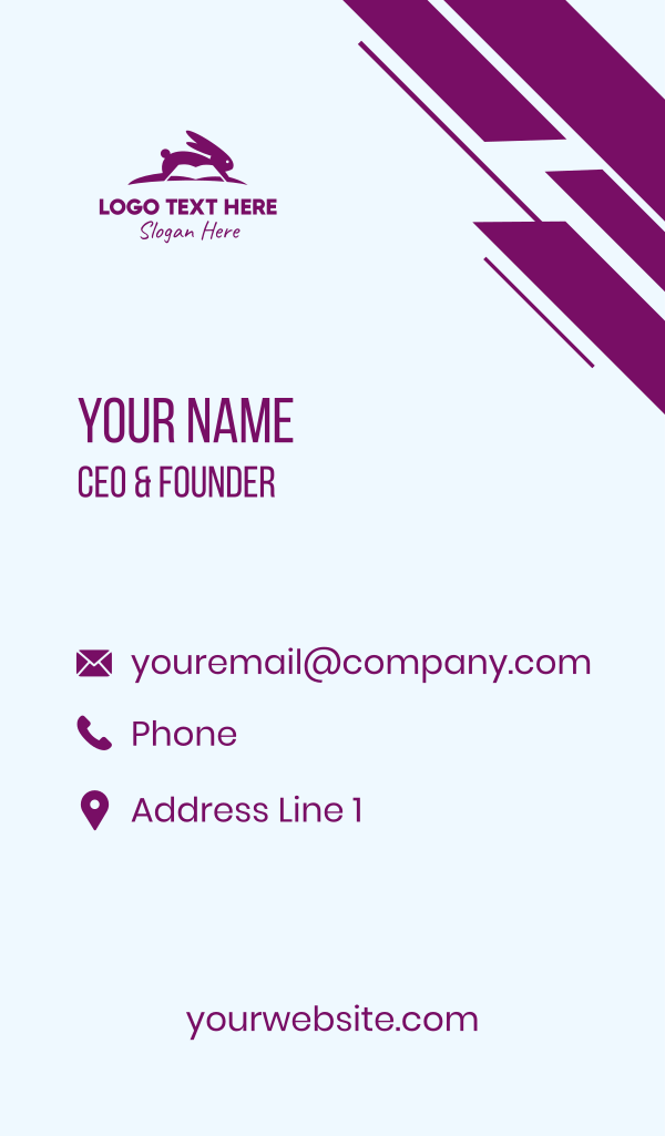 Rabbit Book Publisher Business Card
