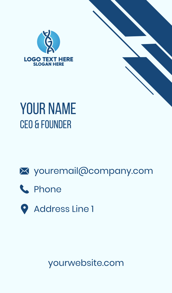 DNA String Laboratory Business Card